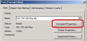 cara setting label agar hasil cetak pas di tengah 2