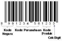 contoh penomoran barcode