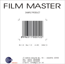 contoh film master barcode