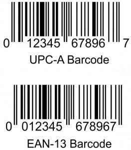 perbandingan barcode UPC-A dan EAN-13