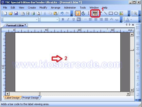 cara mudah setting label barcode