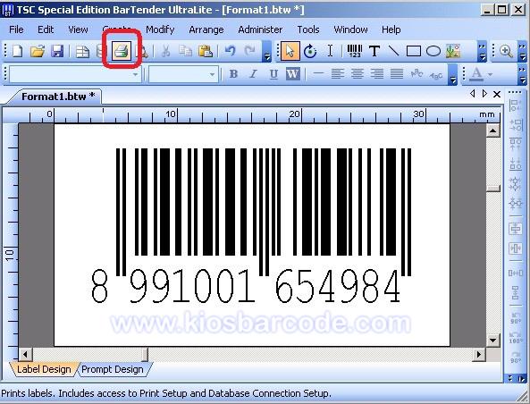 contoh cara mendesign barcode