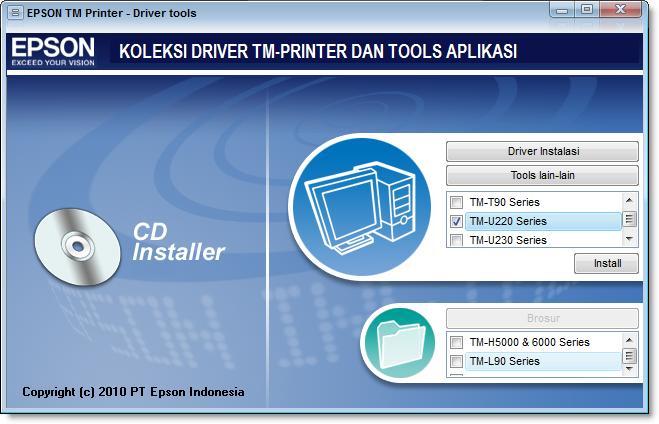 Panduan Instal Driver Printer Kasir Epson TM-U220