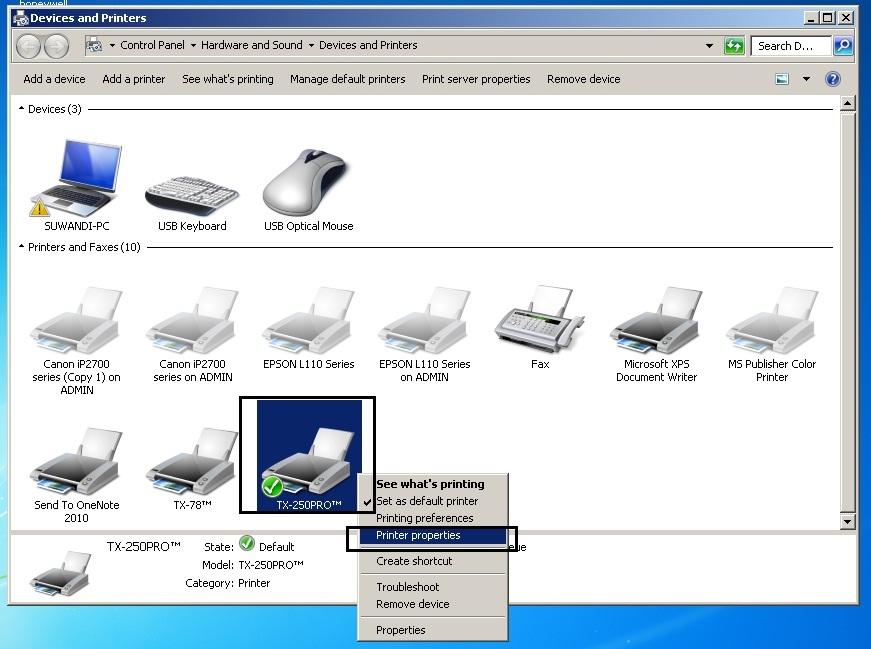 Cara Install Driver Dan Setting Port Pada Printer Postronix TX-250