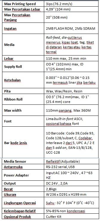 printer barcode murah