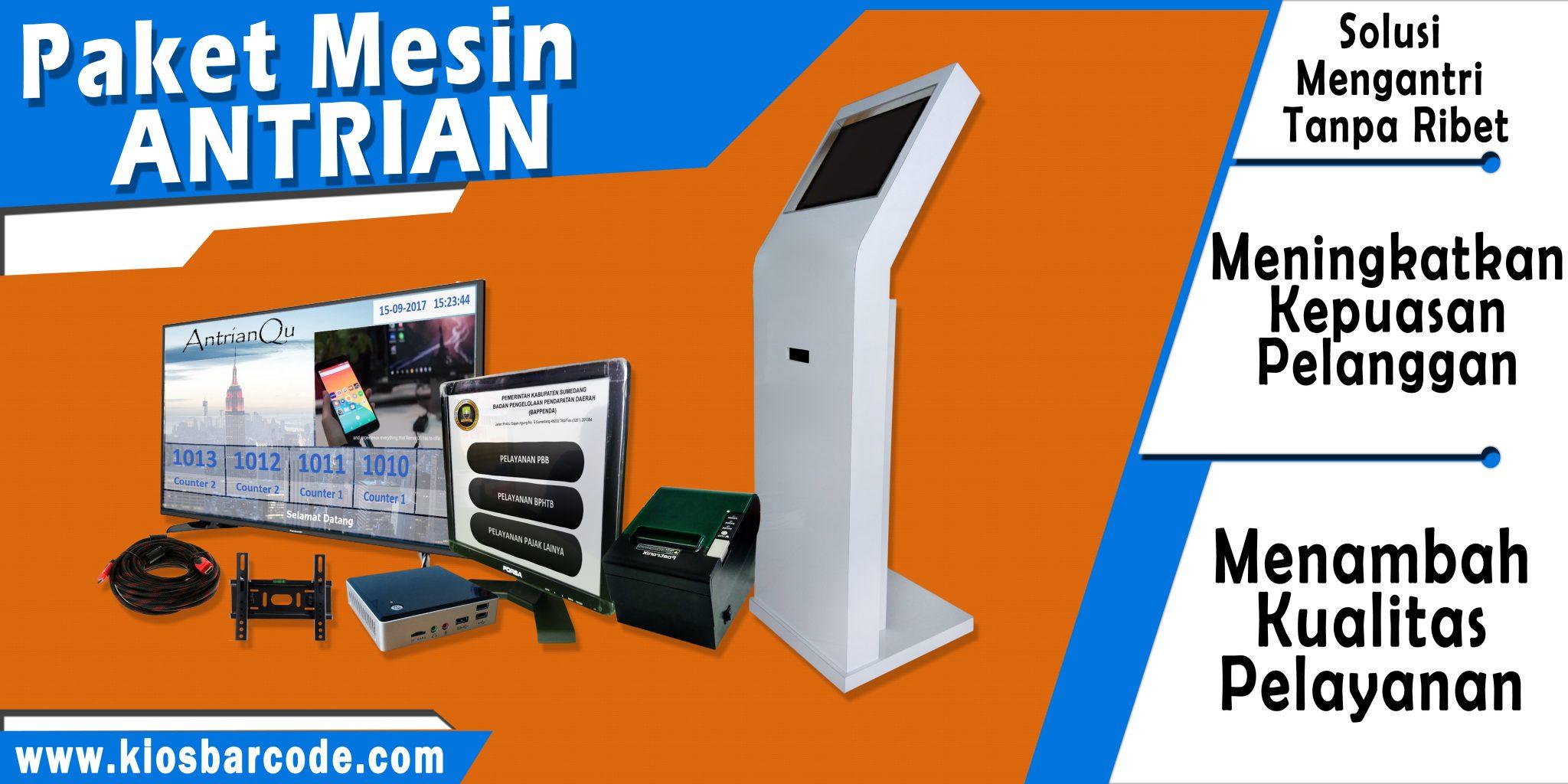 Jual Mesin Antrian Touchscreen Puskesmas