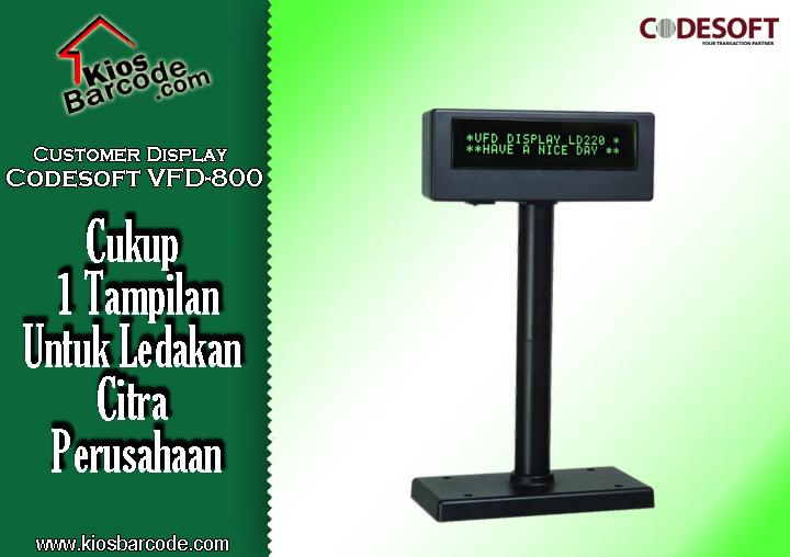From Order Customer Display Codesoft VFD 800