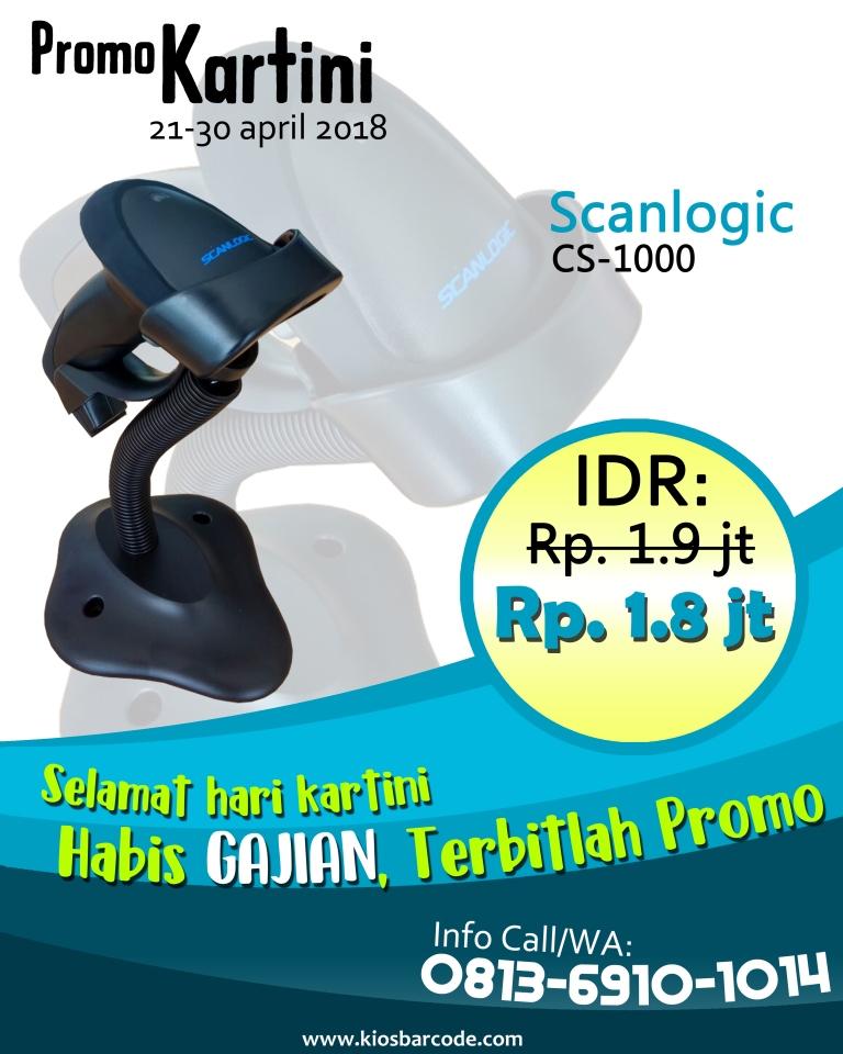 Promo Scanner Barcode Scanlogic CS 1000