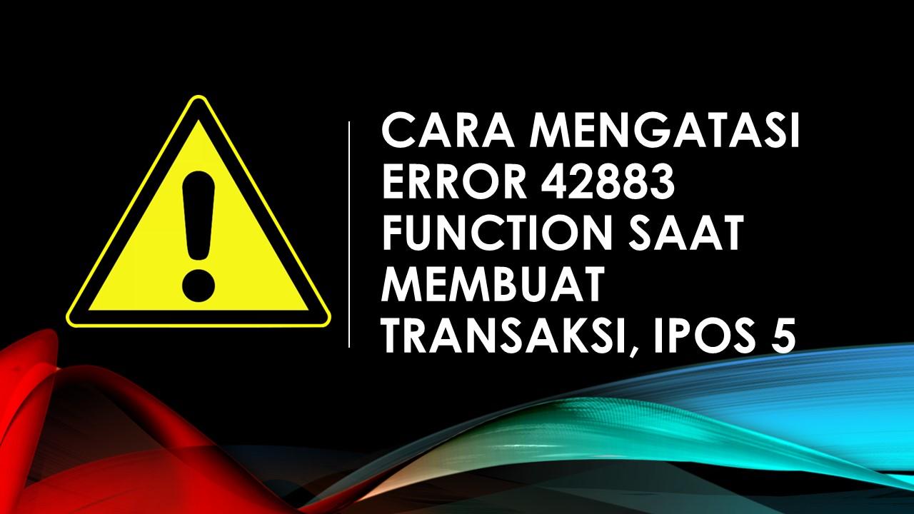 ERROR 42883