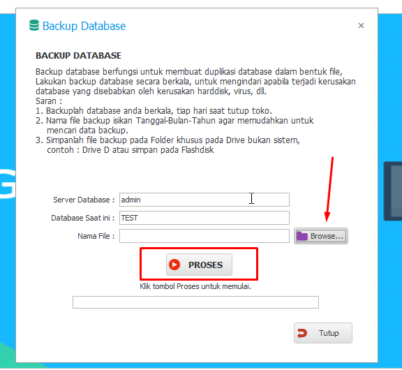 tips backup database program toko